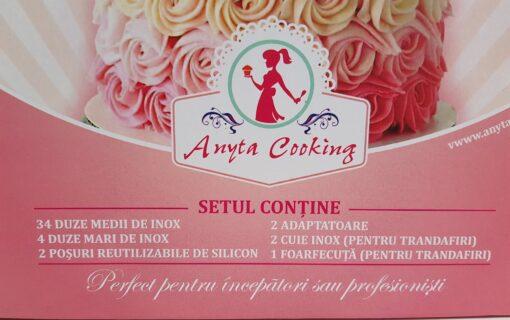Set Profesional cu 38 de Duze-Duiuri pentru Ornat și Decorat - Anyta Cooking [Transport GRATIS]