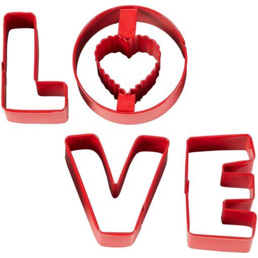 Set 4 Decupatoare -Love - Wilton