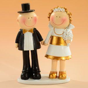 Figurine Tort - Pereche Nunta de Aur