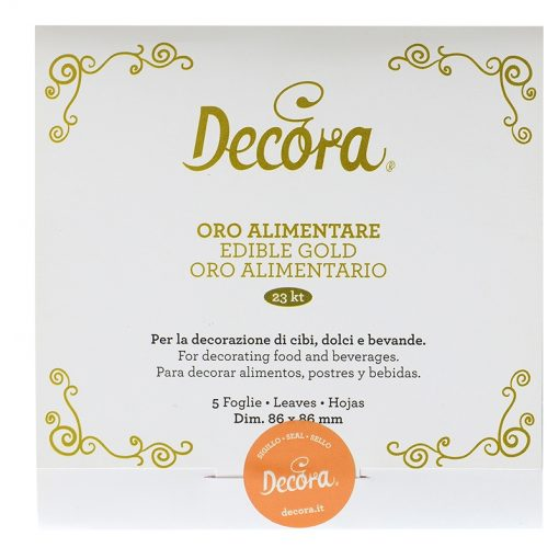 Set 5 foițe de aur comestibile - Decora