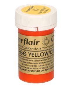 "Colorant Alimentar Gel ""EGG YELLOW/CREAM"" / Galben Inchis – 25 G – Sugarflair"