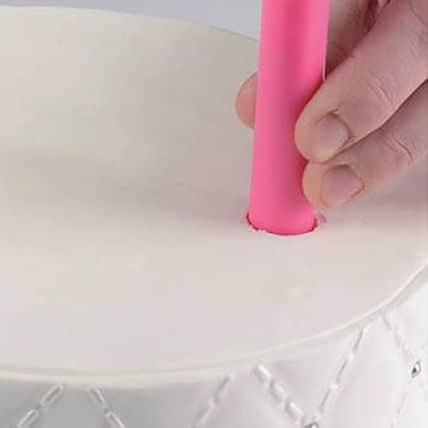 Set 5 Tije de Plastic pentru Torturi - 30 CM - Silikomart