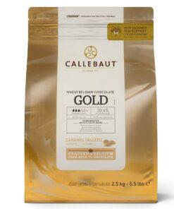 Ciocolata fina alba cu caramel -GOLD - 2,5 KG - Callebaut®