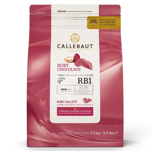 Ciocolata Fina - Ruby - 2,5 KG - Callebaut®