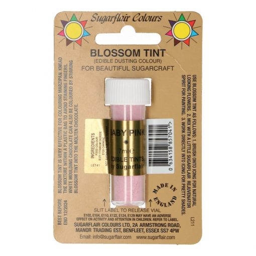 Colorant Alimentar Pudra - BABY PINK / Roz Deschis – 7 ML – Sugarflair