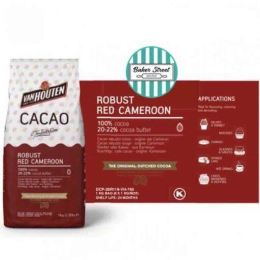 Cacao Alcanizată -1 KG- Red Robust ( ROSU VELVET INCHIS )-Van Houten