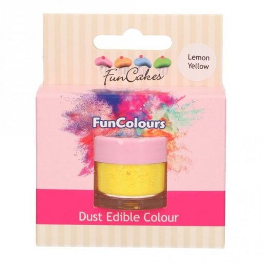 Colorant Pudra FunColours – LEMON YELLOW / Galben Lamaie – FunCakes