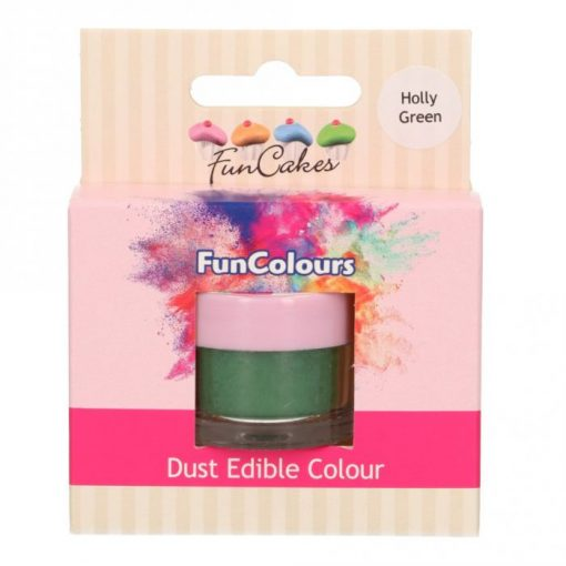 Colorant Pudra FunColours – HOLLY GREEN / Verde Inchis – FunCakes