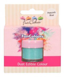 Colorant Pudra FunColours – PEACOCK BLUE / Albastru Paun – FunCakes