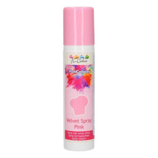 Colorant Spray - Efect Catifea -VELVET SPRAY PINK / Roz -100ML-FunCakes