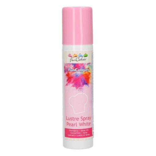 Colorant Spray Metalic - PEARL WHITE / Alb Perla -100ML-FunCakes