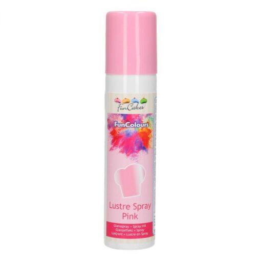 Colorant Spray Metalic - PINK / Roz -100ML-FunCakes