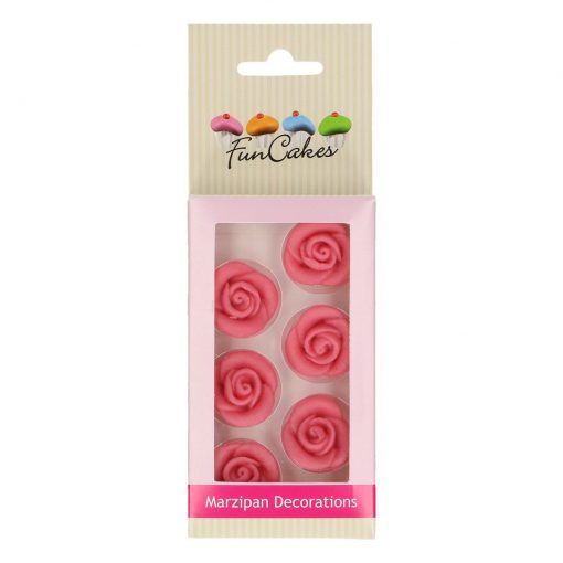 Decoratiuni Trandafiri Martipan - 6 Buc - FunCakes