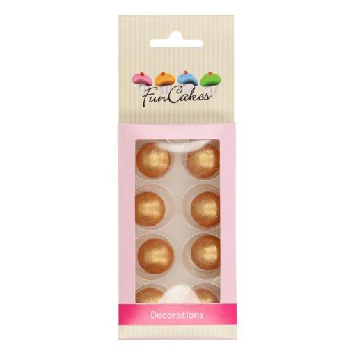 Decor din Ciocolata - Bilute Aurii - FunCakes
