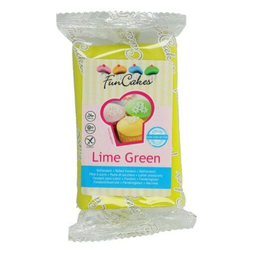 Fondant - Verde Lime - 250G -FunCakes