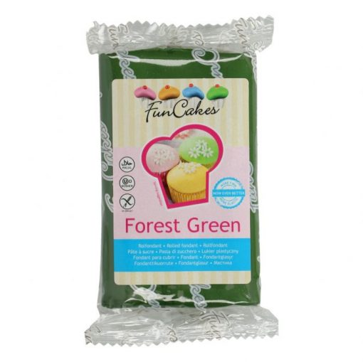 Fondant - Verde Padure - 250G -FunCakes