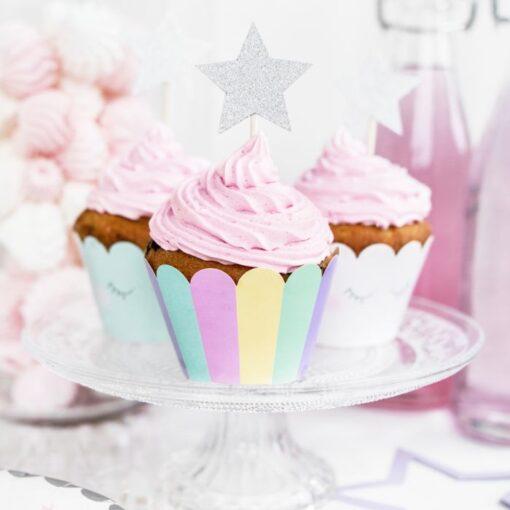 Set Ambalaje Briose 6 bucăți - Unicorn - PartyDeco