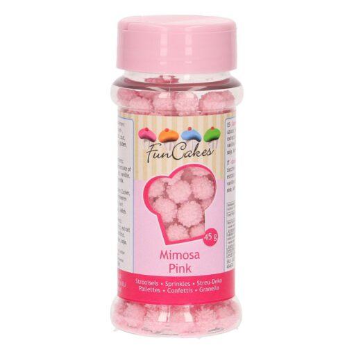 Decoratiuni Zahar Mimosa - Roz – 45G - FunCakes