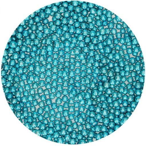 Perlute Albastru Metalic din Zahar 80g - FunCakes