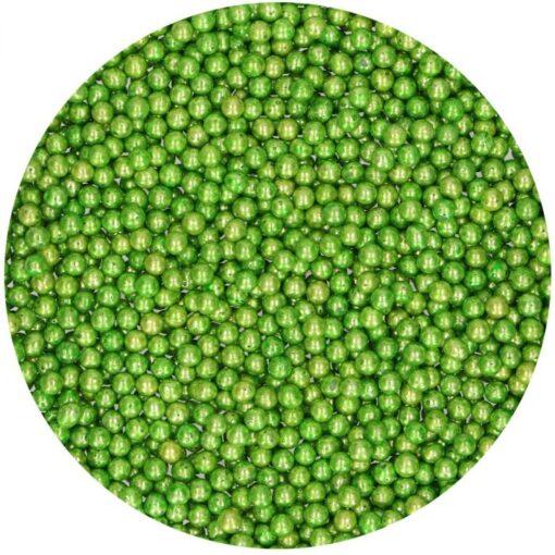 Perlute Verde Metalic din Zahar 80g - FunCakes