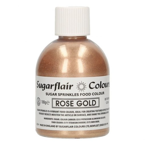 Zahar Fin Sclipicios - 100 GR– ROSE GOLD / Auriu Rose - Sugarflair