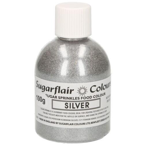 Zahar Fin Sclipicios - 100 GR- SILVER / Argintiu - Sugarflair