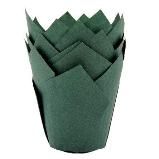 Forme pentru muffin - 36 BUC.-Verde Inchis- House of Marie