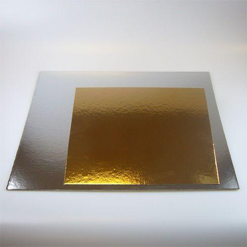 Cartoane Patrate pentru Tort Argintiu – 25CM - FunCakes
