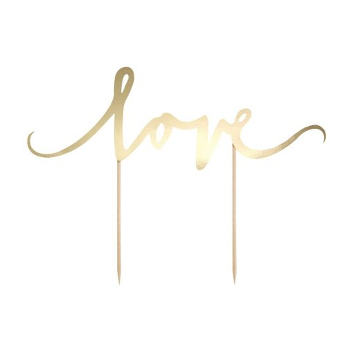 "Topper ""Love"" - Auriu - PartyDeco"