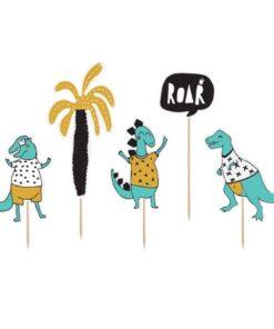 Topper pentru Torturi 5 bucati - Dinozaur - PartyDeco