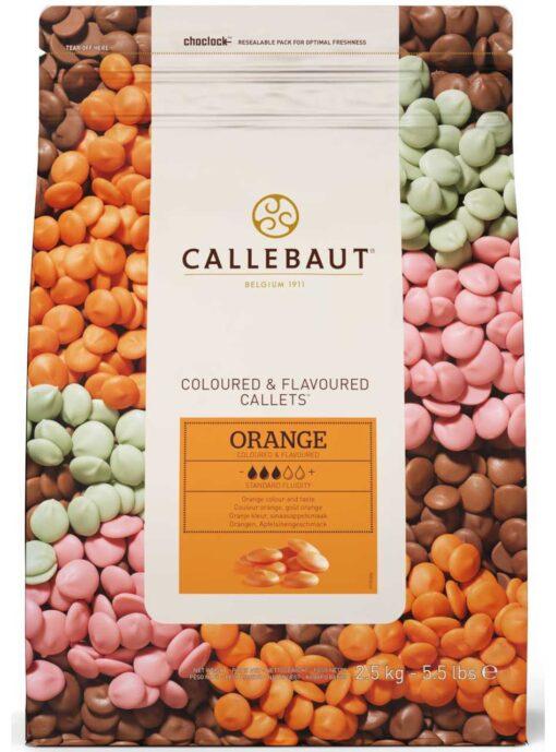 Ciocolată Dropsuri Aromă PORTOCALE - 2,5KG- 27,5% Cacao- Callebaut