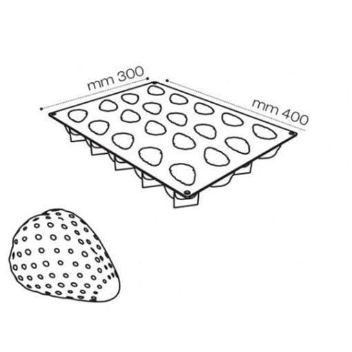 Forma Silicon Pavoni - Capsuna
