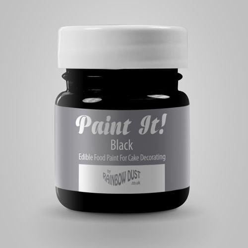 Colorant Alimentar pentru Pictat BLACK / Negru - 25 ML - Rainbow Dust