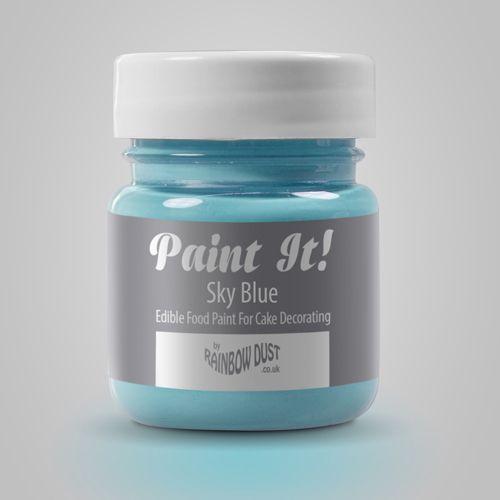 Colorant Alimentar pentru Pictat SKY BLUE / Albastru Cer - 25 ML - Rainbow Dust