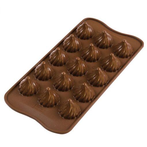 Forma Silicon Ciocolata Flacara - Silikomart
