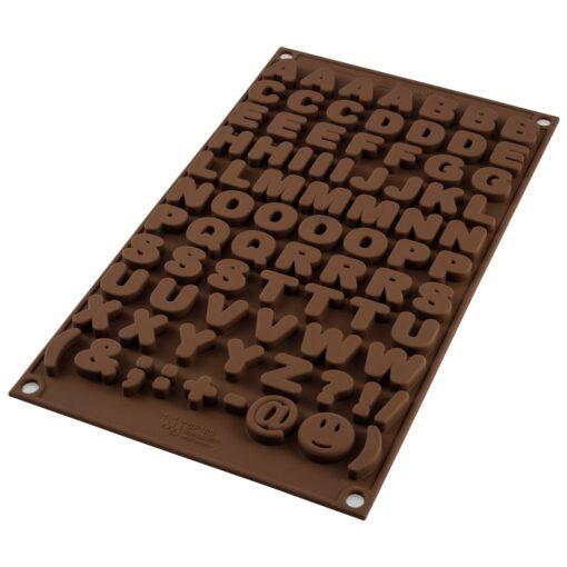 Forma de Silicon pentru Ciocolata - Literele Alfabetului - Silikomart
