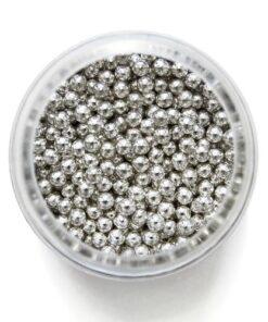Perle de Zahar Argintii 3mm 25g - PME