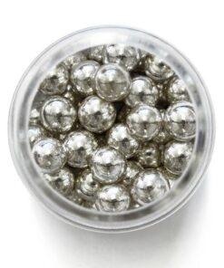 Perle de Zahar Argintii 8mm 25g - PME