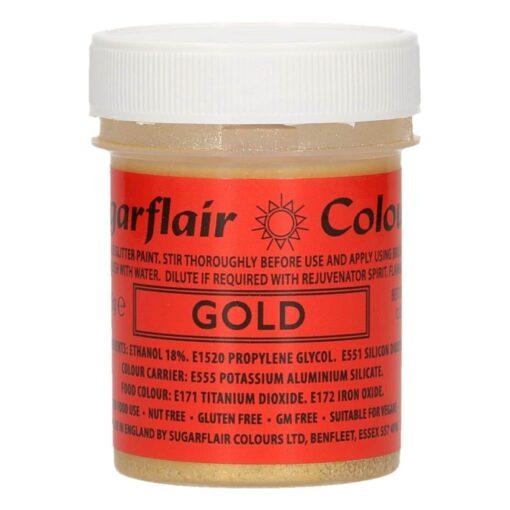 Colorant Gel - Auriu / Gold - 35G - Sugarflair