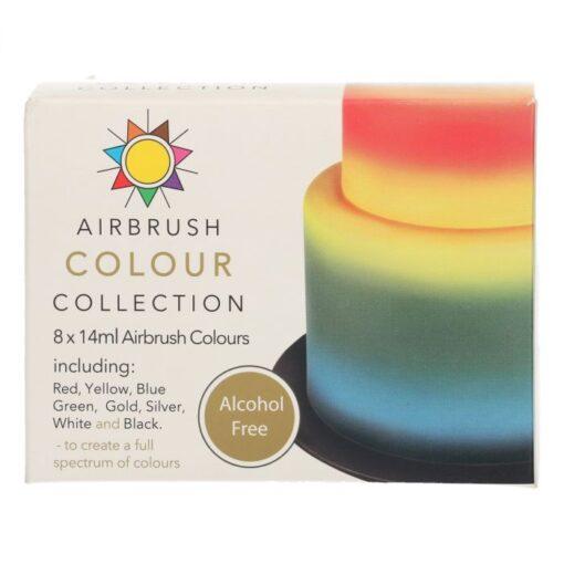 Set 8x14ml - Colorant Aerograf Fara Alcool - Sugarflair