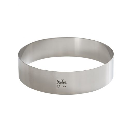 Formă din oțel inoxidabil fără puncte de sudură -24 cm -Decora