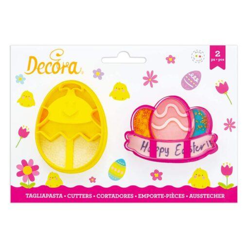 Set 2 Decupătoare din Plastic Ouă - Decora