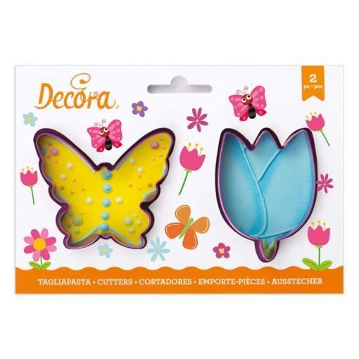 Set 2 Decupătoare - Fluture si Lalea- Decora