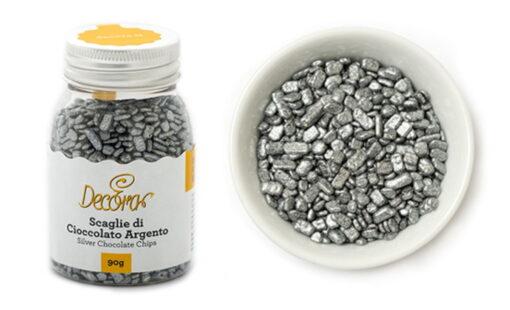 Decor din ciocolata - Argintiu - 90 gr -Decora