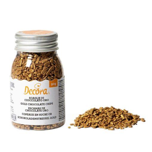 Decor din Ciocolata-Auriu-90 GR-Decora