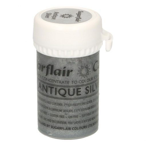 Colorant Gel – ARGINTIU / Antique Silver– Sugarflair
