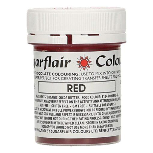 Colorant Ciocolata – RED / ROSU – Sugarflair
