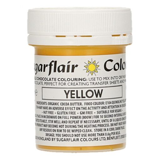 Colorant Ciocolata – YELLOW / GALBEN – Sugarflair