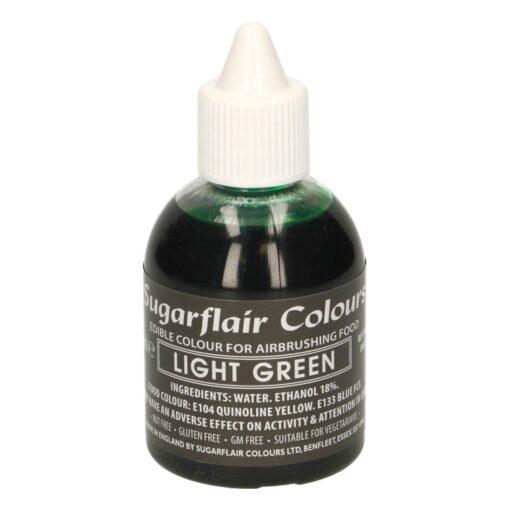 Colorant Aerograf – LIGHT GREEN / VERDE DESCHIS – Sugarflair