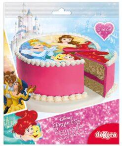 Vafă comestibilă Printesa Disney - 20CM-Dekora